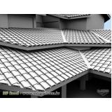cimento de telhado